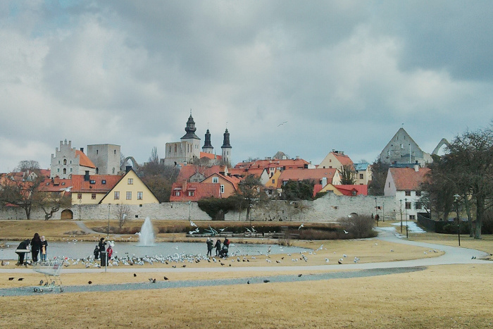 Visby skyline seen from Almedalen