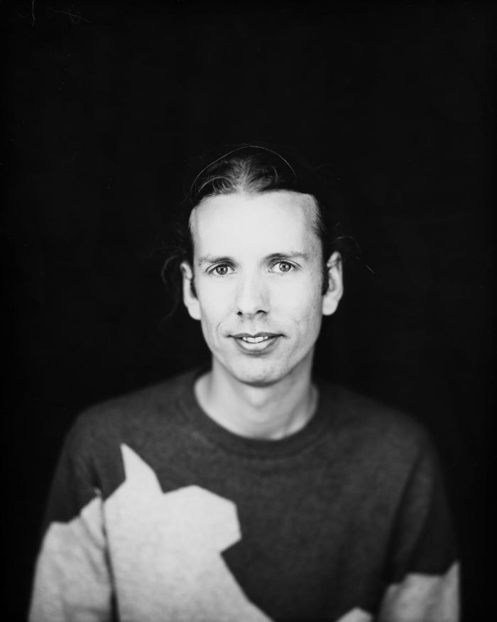 Half portrait, b/w